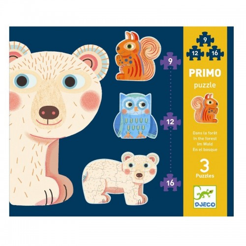 Puzzle Progressivo Foresta 3in1