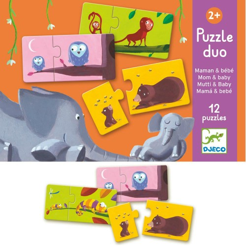 Puzzle Duo - Mom & Baby (12 x 2)