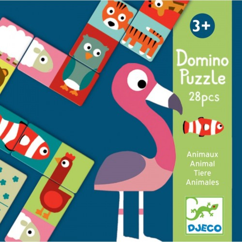 Domino Puzzle Animali