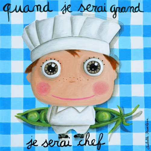 "Quadretto ""Quand Je Serai Grand"" - Bimbo Chef"
