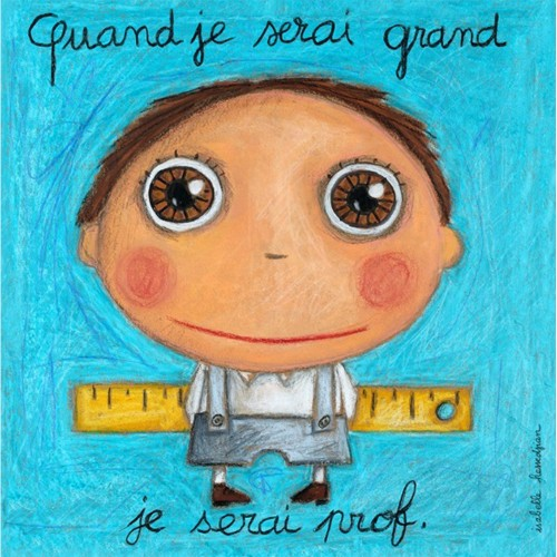 "Quadretto ""Quand Je Serai Grand"" - Bimbo Professore"